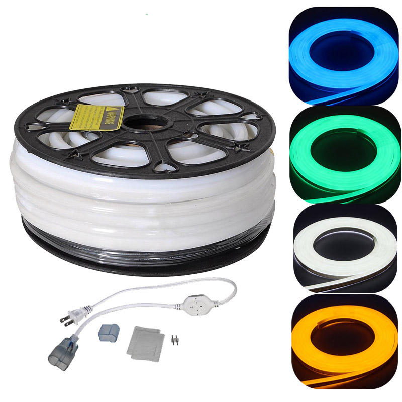 Waterproof IP68 Strip rgb blue yellow 220v 110v 12v 24v 50ft 150ft Flexible led neon lights for rooms