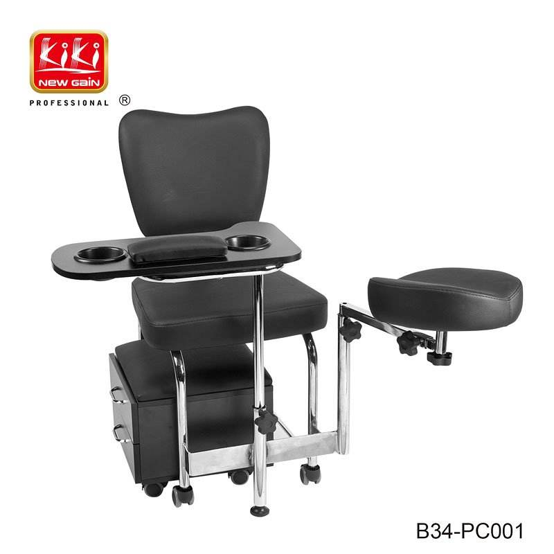KIKI NEWGAIN PVC Leather Tienda De Manicura Chair Salon Pedicure Manicure Nail Tables For Nails Salon