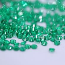 Spot wholesale 1mm round emerald nano crystal gems for jewelry casting