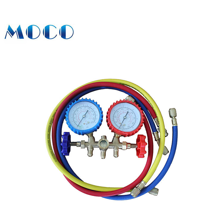 With experienced manufacturer supply Aluminium valve body r410a manifold gauge set