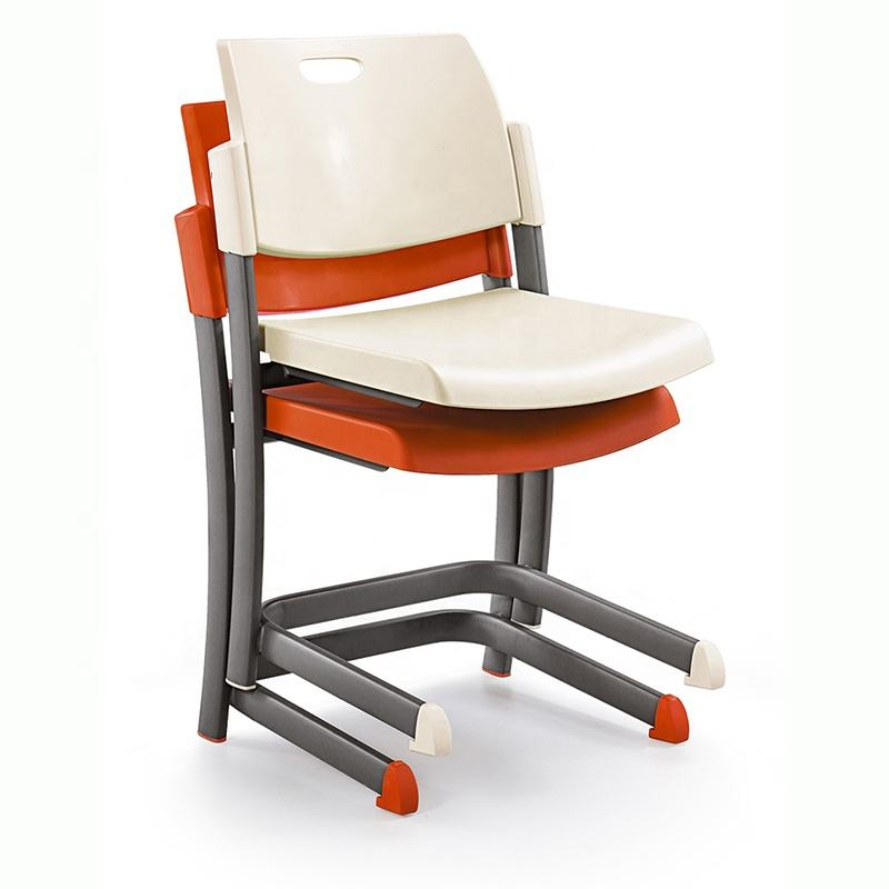 Stackable plastic seat and back cheap price college classroom furniture university student study school chair for sale