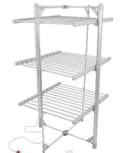 300W heated clothes airer 3 tier folding clothes dryer rack household electric clothes drying rack