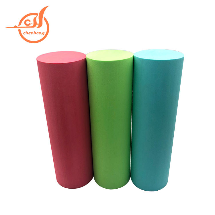 Custom Design Reliëf logo solid Yoga roller met private label