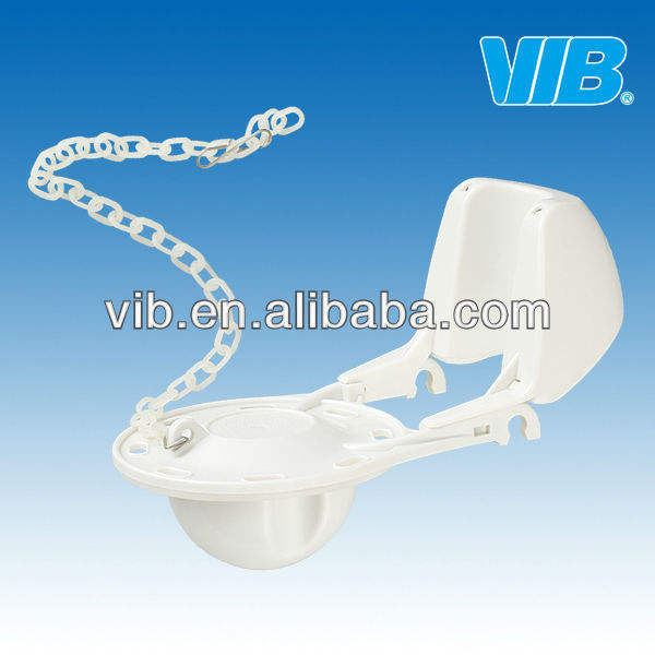 Cistern flush mechanism of toilet tank parts flapper with chain