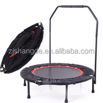 Lipat 40 inch Mini Trampolin dengan Adjustable Handle Bar