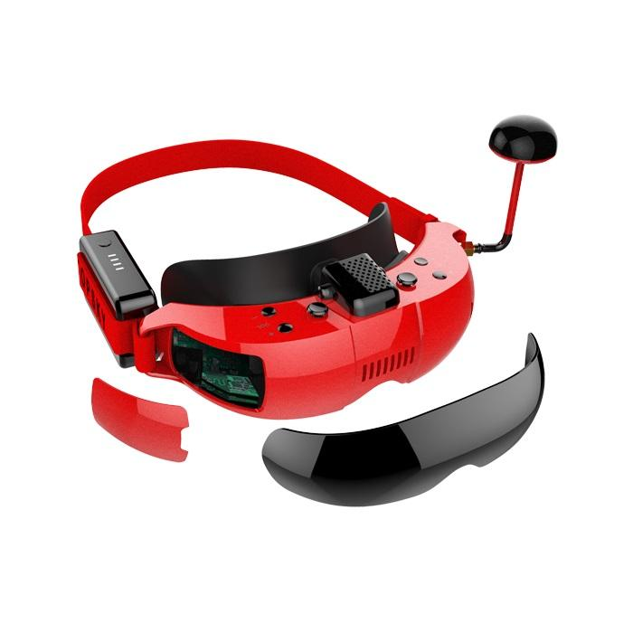 New Arrival 5.8g 40ch Diversity Fpv Goggles 1280*720p Video Headset Built-in Battery With Dvr