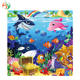 AY Custom Rubber Foam Polyester Puzzle Play Mat Children Gym Playmats With Logo Printing For Kids And Baby Playing