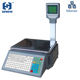 high quality weighing Label Scales with 10000 PLUs data storage capacity for supermarket Default price and weight selling