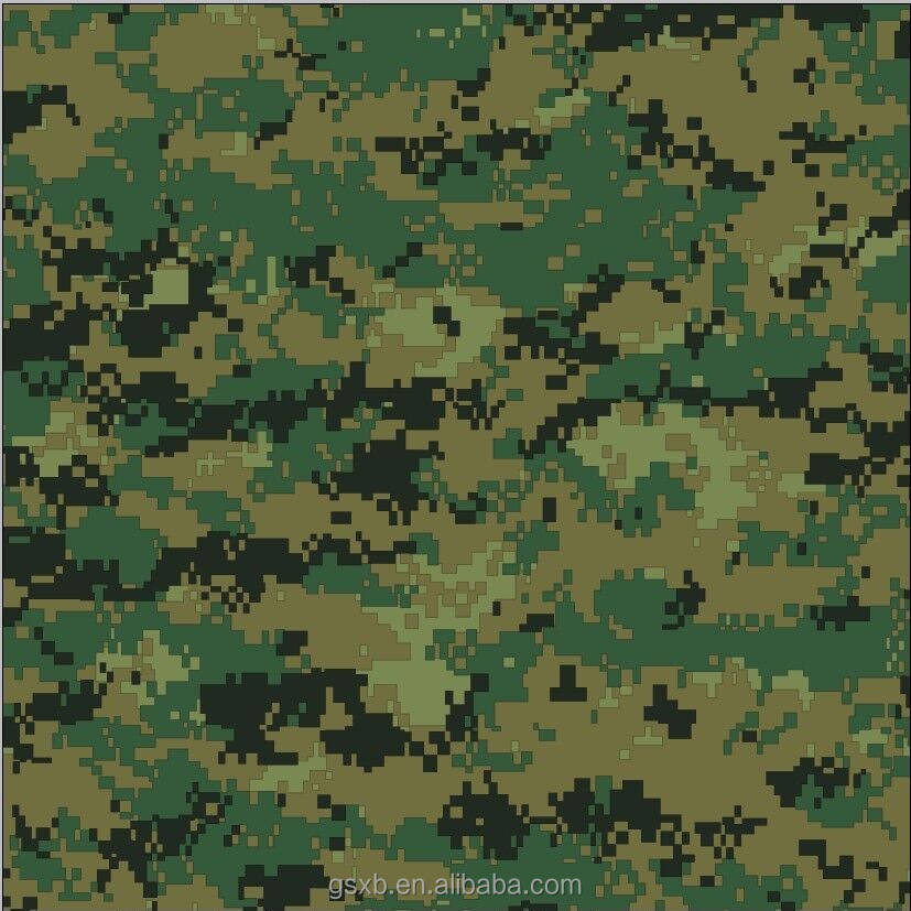 pvc gecoat polyester digitale camouflage stof