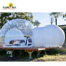 Luxe Adventure inflatable Bubble Hotel Outdoor Sleeping Tent Clear Bubble lodge Inflatable camping Transparent Igloo Dome Cabin