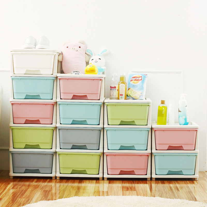 fashion brief Multicolour finishing storage box Thickened multilayer plastic drawer storage cabinet