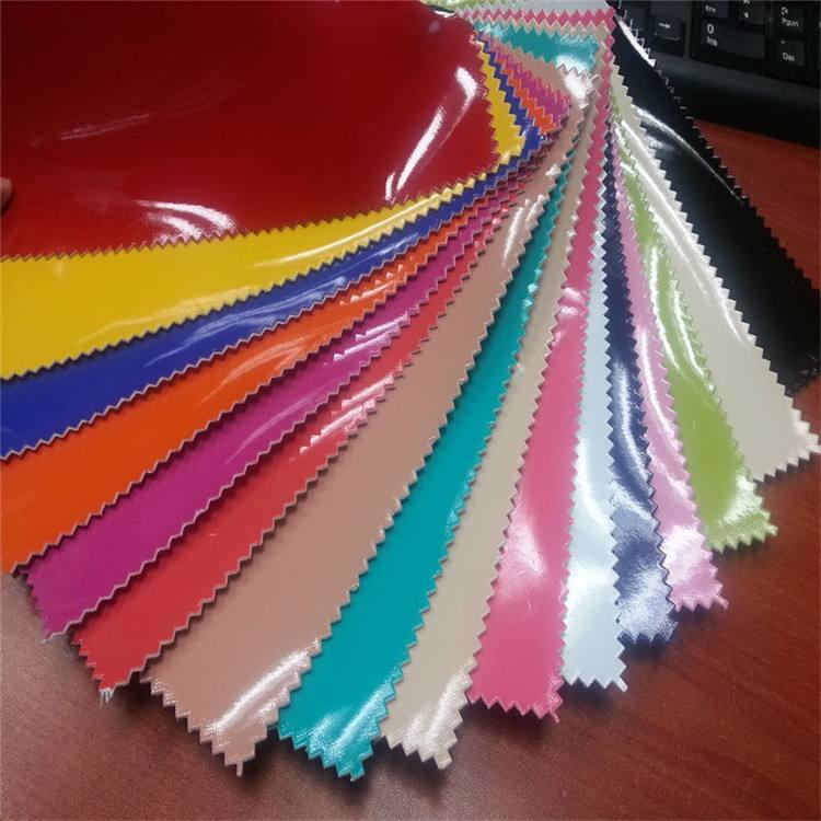 Bright color pu leather woven backing pu suede fabric with best price