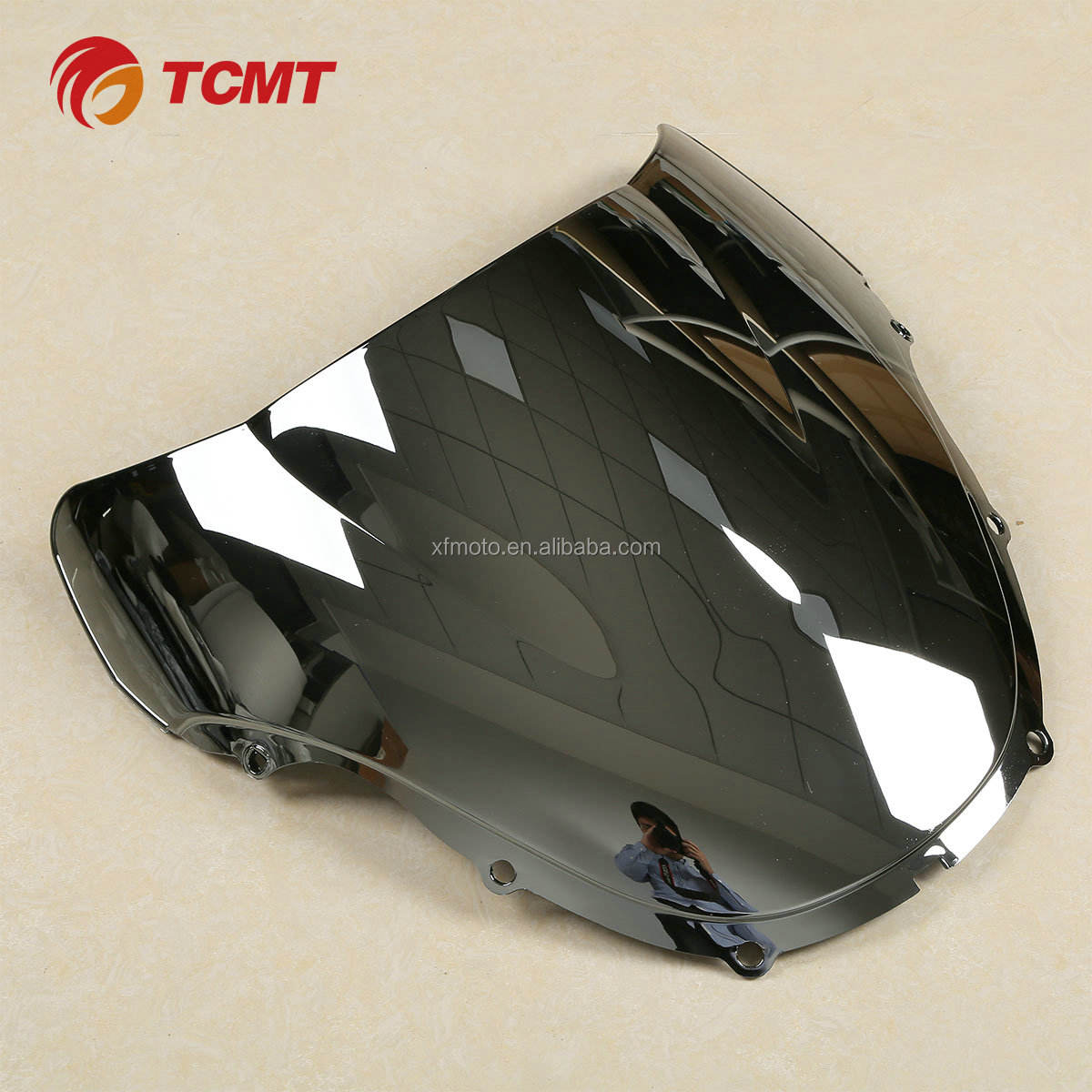 TCMT Motorcycle Chrome Windshield Windscreen FOR HONDA CBR600 F4 1999-2000
