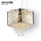Bird nest design modern stainless steel crystal chandelier with crystal beaded drum shade chromed finish chandeliers