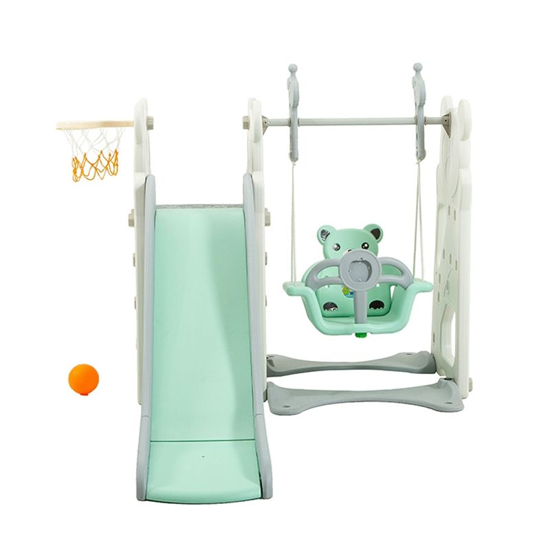 Children Indoor Playground 3 in 1 Plastic Baby Swing and Slide Set