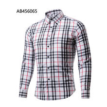 Latest hot selling fashion  long sleeves plaid men dress shirts AB456065