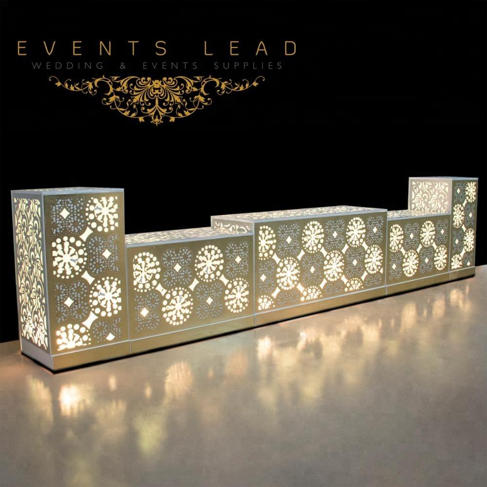 Hot Sale SOLARIS Pattern Led Lighting Buffet Table for Wedding & Banquet Party