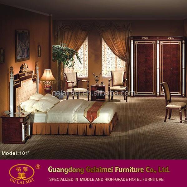 Venta caliente real dormitorio de madera maciza natural