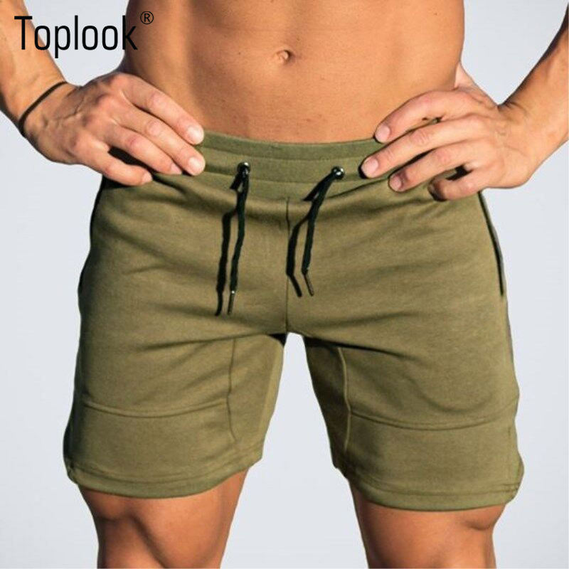 Toplook Sports Shorts Men Cotton Breathable Casual Running Fitness Sweatpants For Men gym sports wear M13
