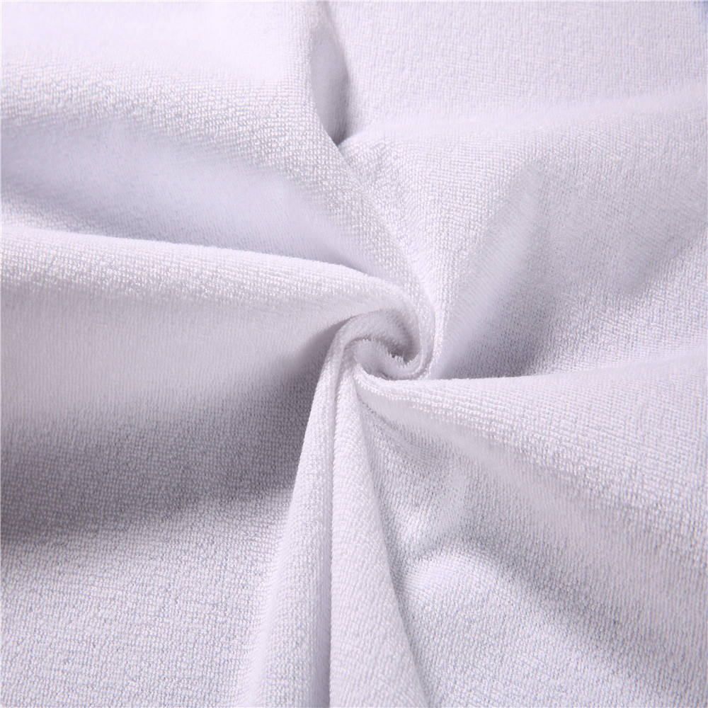 Waterproof Bamboo Terry short loop Fabric Laminated With 0.02mm TPU for Home textile