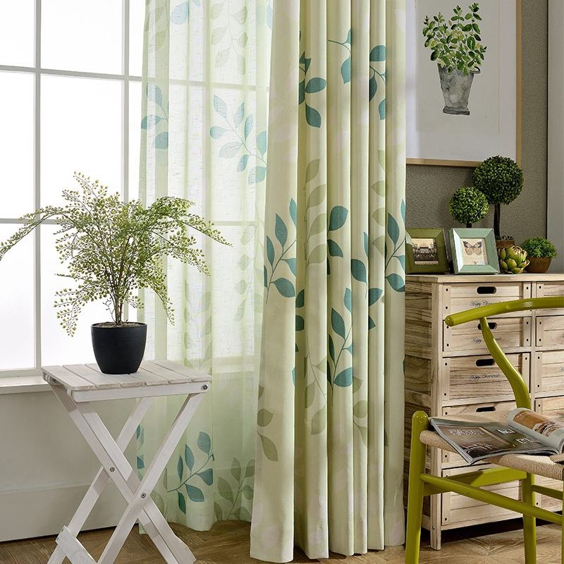 Polyester Cotton Print Ready Made Curtains