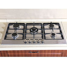 Built-in 5 burner domestic stainless steel propane gas stove / cooktops / cooker