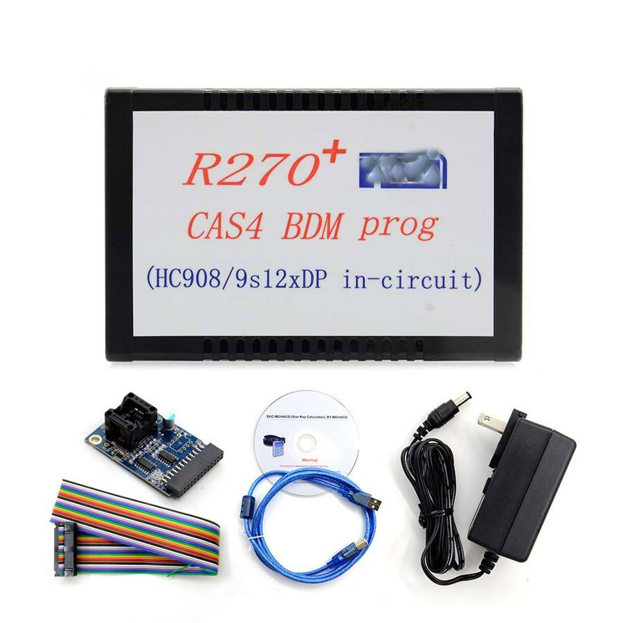 R270+ V1.20 Auto key programmers for BMW CAS4 odometer correction BDM programmer professional car inspection tool Car inspec