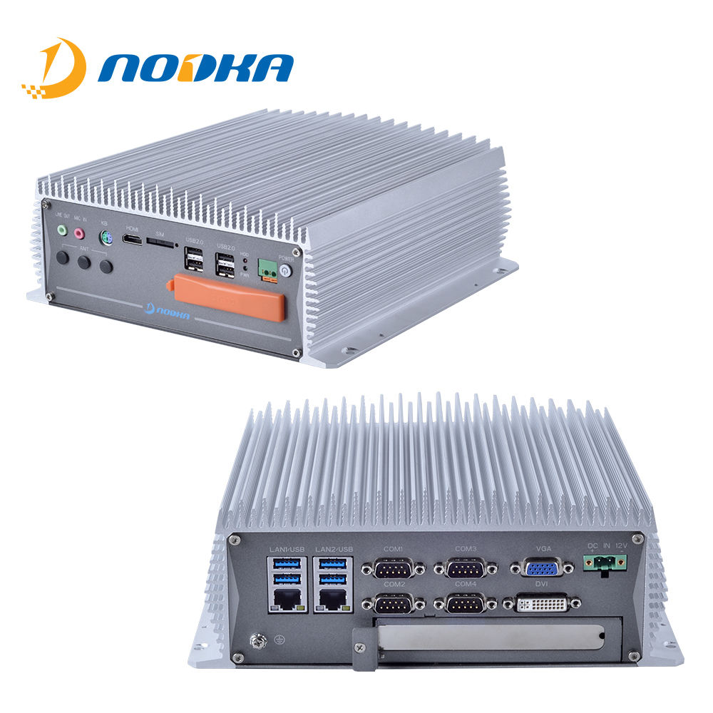 Compatto I3 i5 <span class=keywords><strong>i7</strong></span> Fanless Box PC 4 POE dual Ethernet LAN di WiFi del SIM Rugged Mini ITX caso di Computer Industriali