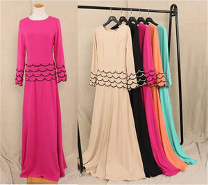 Top quality saudi abaya wholesale moroccan islamic lady maxi dress