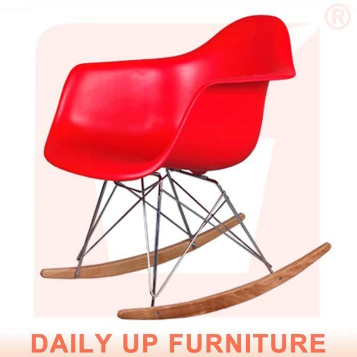 rar Eames ghế giải trí ghế bằng gỗ rocking chair ban công đu ghế nhựa ngoài trời ghế gỗ vườn ghế