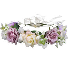 Fashion Girls and Ladys flowers hair accessary wedding bride Flowers headdress bridesmaid headband