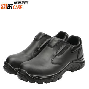 Police men no lace working anti-slip casual safety shoes/manufacturer/S2