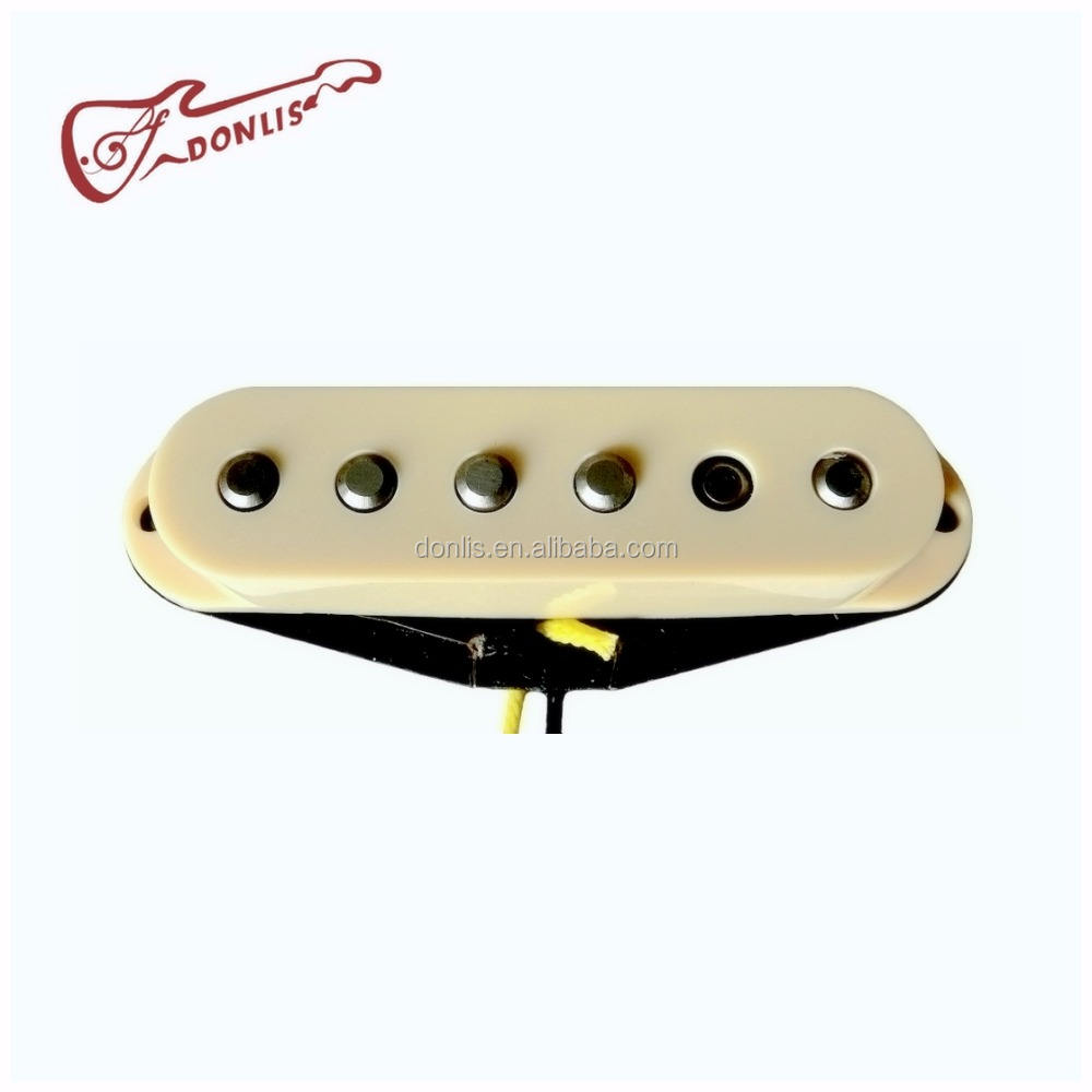 Donlis 60's Vintage Alnico 5 single guitar pickup for Strat Electric Guitar with flatwork bobbin for building quality guitars