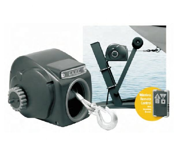 Electric trailer winch for small craft/day runner lite cruiser winch SW with remote control /pulling capacity 2000/2500/3000LB