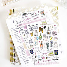 Backing School Planner Logo Print Lovely Reminder Stairs Book Sticker Set