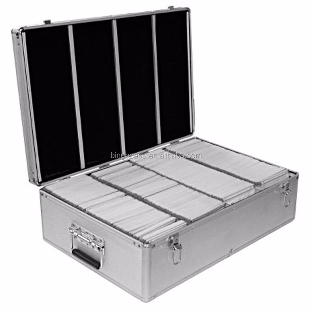 Aluminum CD or DVD Storage Box with sleeves Holds up to 1000 Disks
