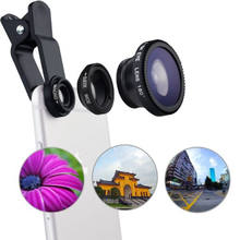 0.67x Wide Angle Macro Fish Eye 3 in 1 Mobile Phone Camera Lens for Galaxy Note 3 / Nikon / Table PC LQ-001B