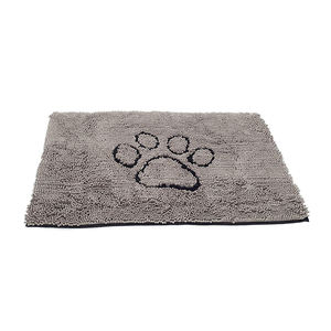 CHAKME  Customized Absorbent Chenille Washable Dog Door Mat With Animal Paw