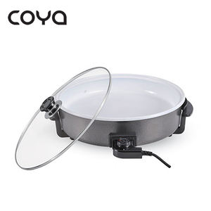 1500W Non-Stick Electric Pizza Pan Skillet With Ceramic Coating With Thermostat