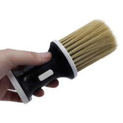 Wholesale Fiber Hair Hairdressing Sweep Neck Brush Hair Barber Tools Neck Duster Cleaning Brush With Powder Dispenser