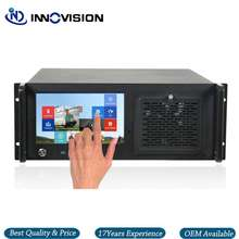 4u rackmount server case with 9inch touch screen