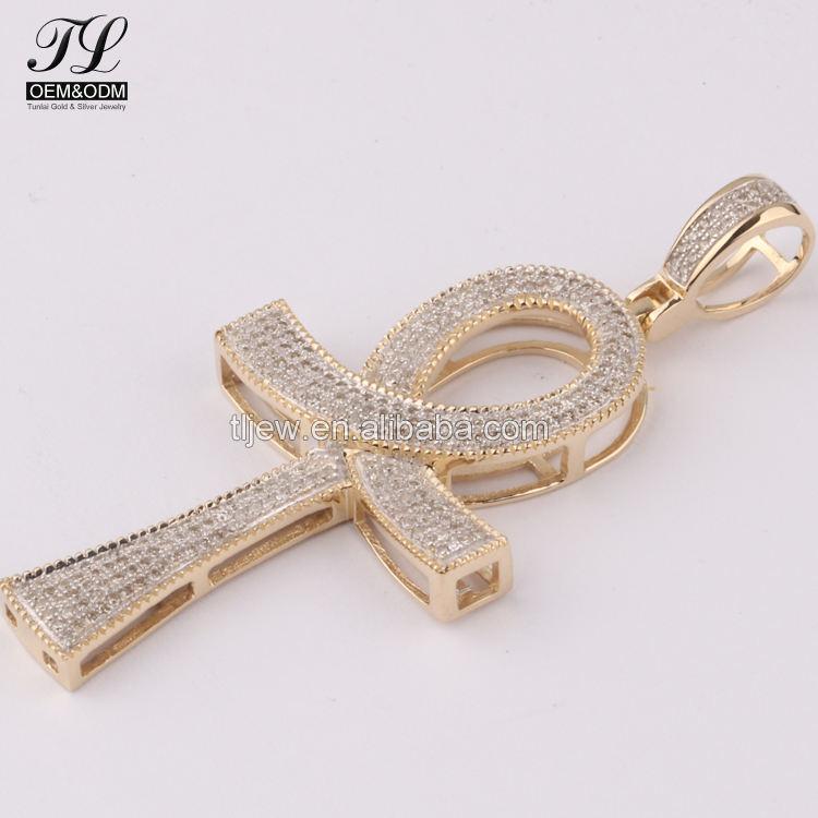 Удачи АНК крест Анкх кулон diamond + золотой АНХ крест изображения