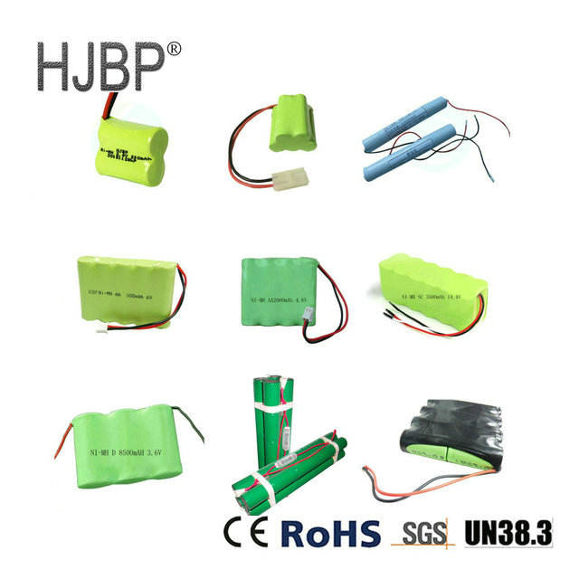 customize replacement 1.2v 2.4v 4.8v 6v 7.2v 9.6v 12v 14.4v 24v nimh battery pack