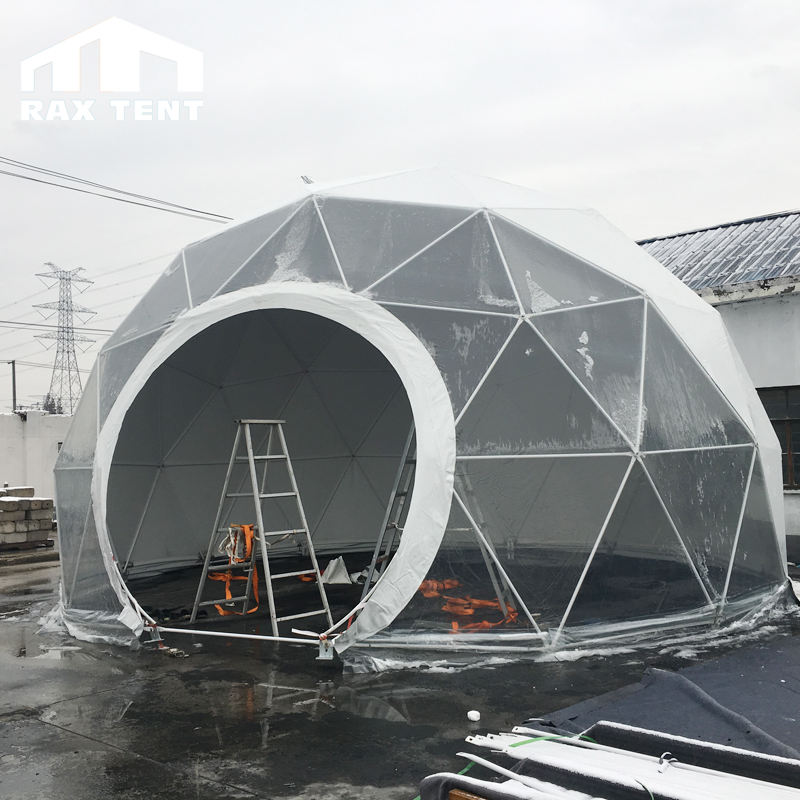 Geometric dome big steel event dome tent luxury outdoor wedding tent to live in with factory price