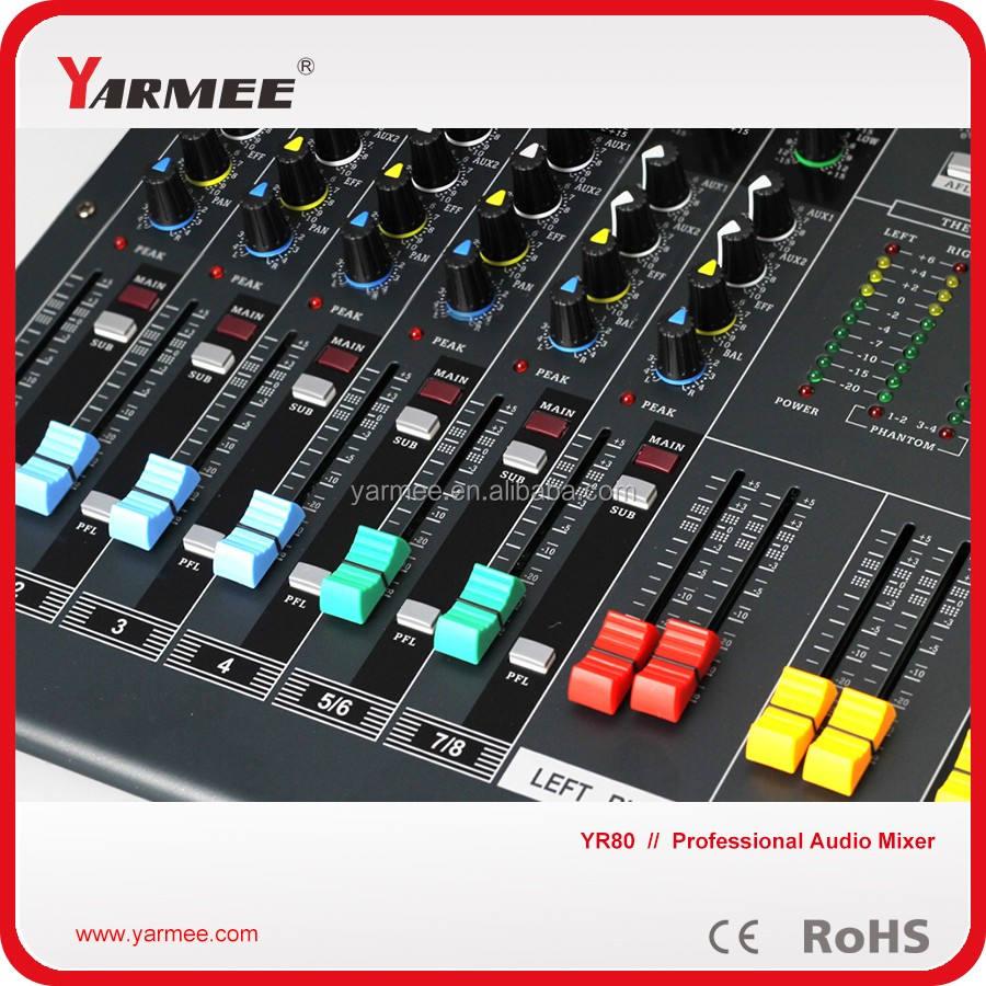 Ad alta qualiity 16 canali amplificatore stereo di <span class=keywords><strong>potenza</strong></span> audio mixer per la vendita ym120- yarmee