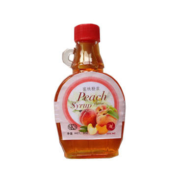 new cheap high quality peach flavored honey syrup customized package