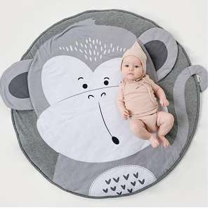 Factory direct custom animal shaped playmat for infant baby play mat monkey playmat