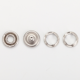 Snap Buttons Buttons Snap Metal Buttons Factory Price Custom Logo 10mm Metal Fashion Loop Ring Prong Snap Buttons