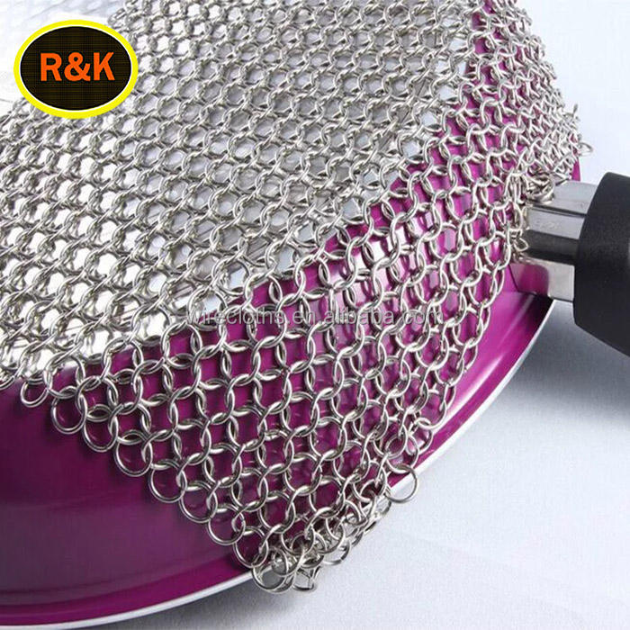 Stainless steel chainmail scrubber/cincin stainless steel mesh/surat berantai