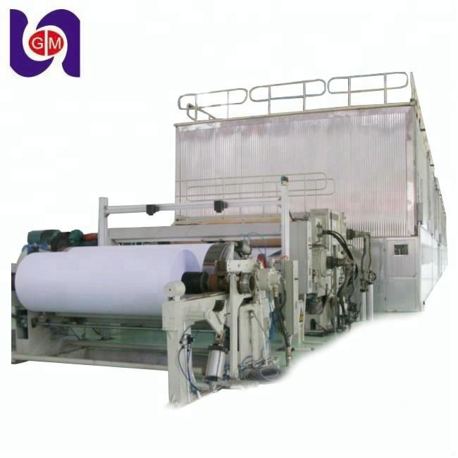 1880mm computer printing white paper making machine prices, writing a4 paper 80 gsm manufacturing line